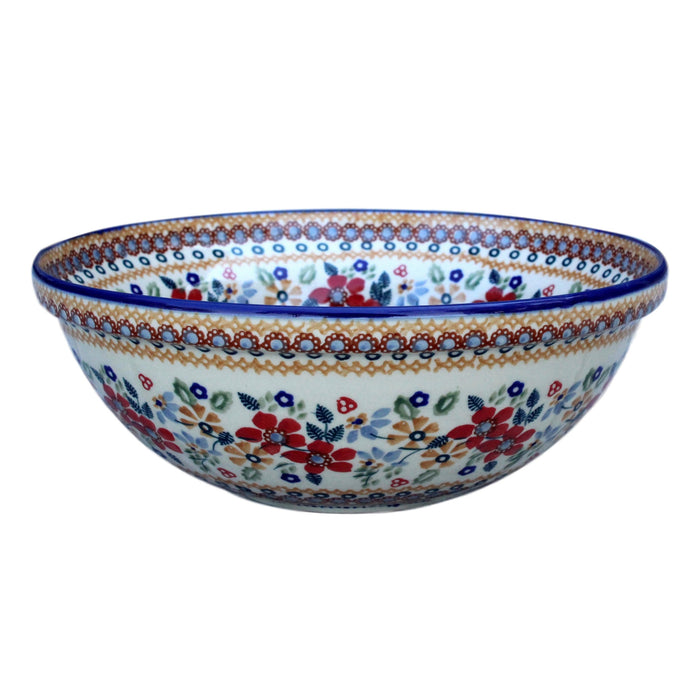 Harvest Floral 2 - Medium Serving Bowl  Polish Ceramics - PasParTou