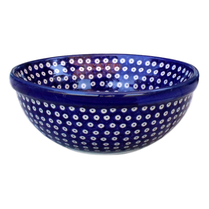 Dotty for Dots Navy - Salad Bowl  Polish Ceramics - PasParTou