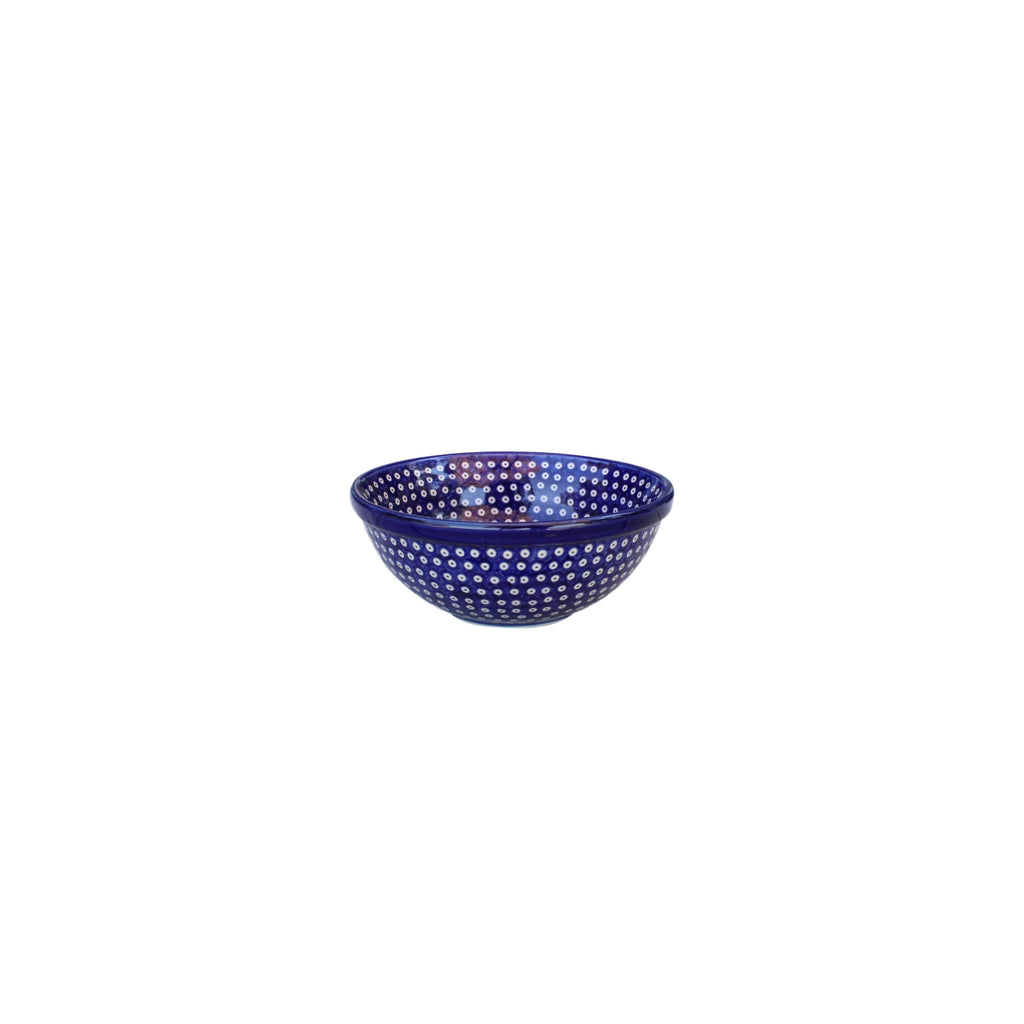 Dotty for Dots Navy - Small Serving Bowl  Polish Ceramics - PasParTou
