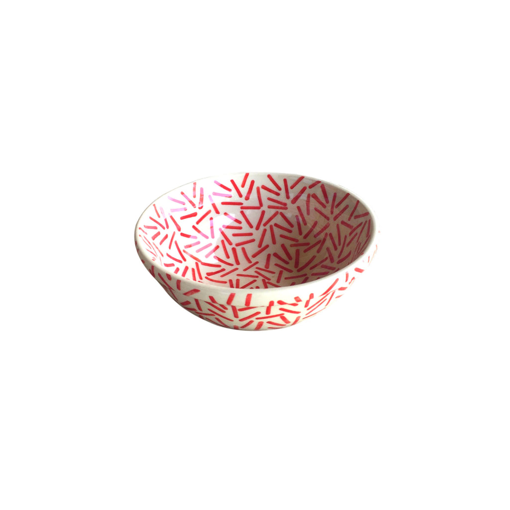 Op Art Red - Salad Bowl  Polish Ceramics - PasParTou