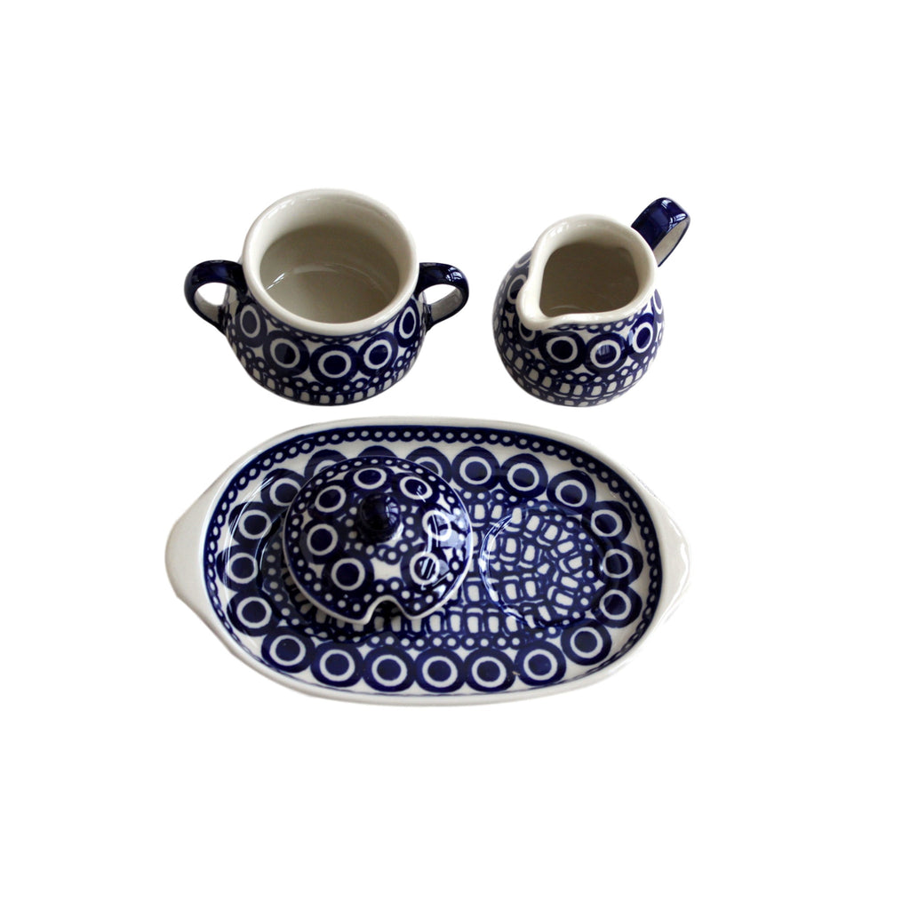 Circles - Sugar bowl and creamer. - Pas-Par-Tou