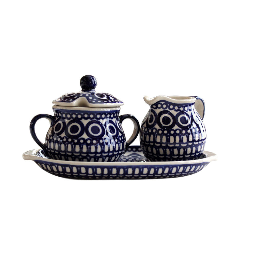 Circles - Sugar bowl and creamer  Polish Ceramics - PasParTou