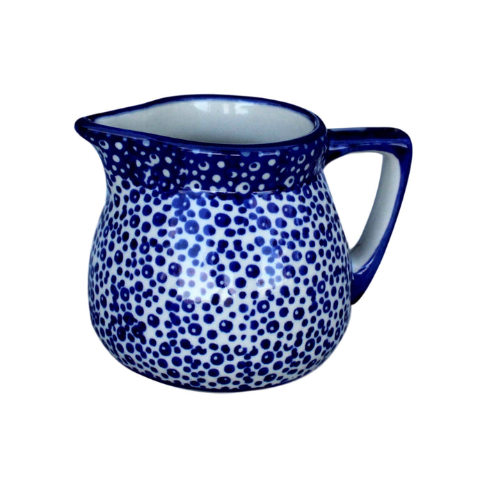 Blue Spatter - Mini Creamer  Polish Ceramics - PasParTou