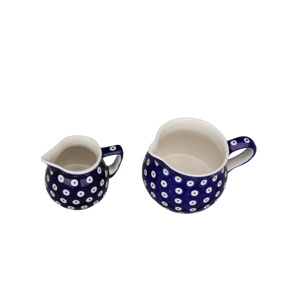 Dots in Dots - Small Creamer and Medium Jug - Pas-Par-Tou