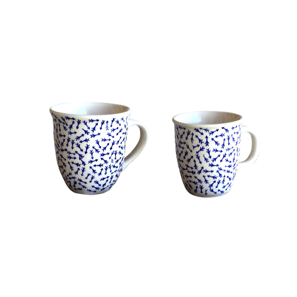 Blue Arrows - Big Cup  Polish Ceramics - PasParTou
