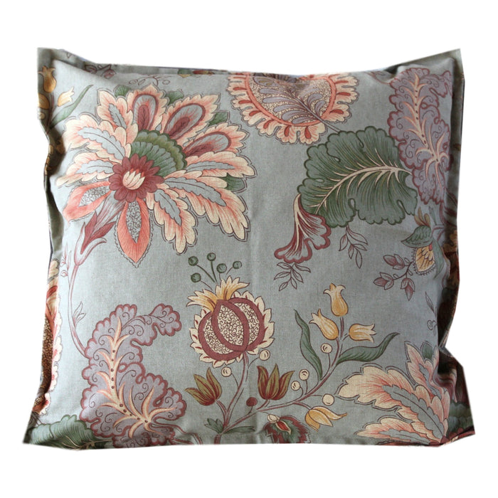 Pillow Green Floral Cotton - PasParTou