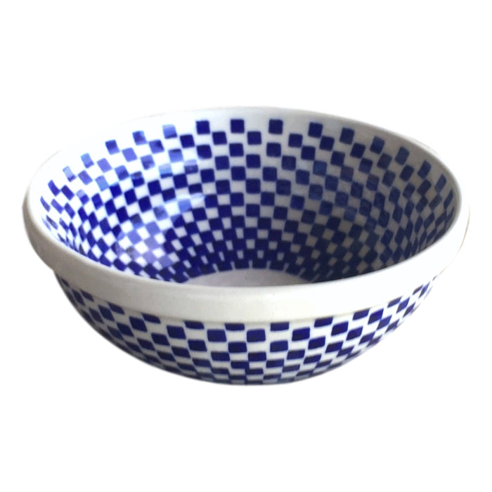 Checkerboard - Dessert Bowl  Polish Ceramics - PasParTou