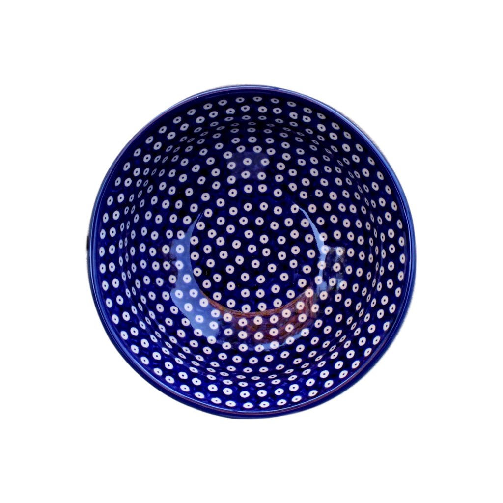 Dotty for Dots Navy - Dessert Bowl  Polish Ceramics - PasParTou