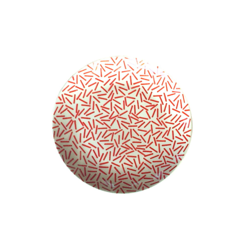 Op Art Red - Dinner Plate  Polish Ceramics - PasParTou