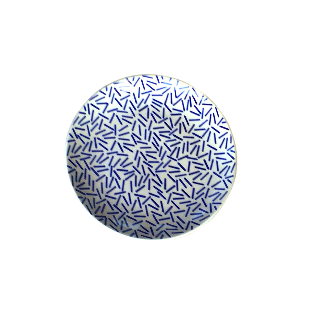 Op Art Blue - Dinner Plate - PasParTou