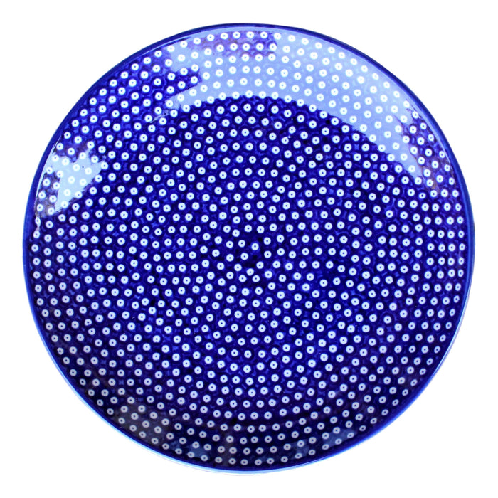 Dotty for Dots Navy - Dinner Plate  Polish Ceramics - PasParTou