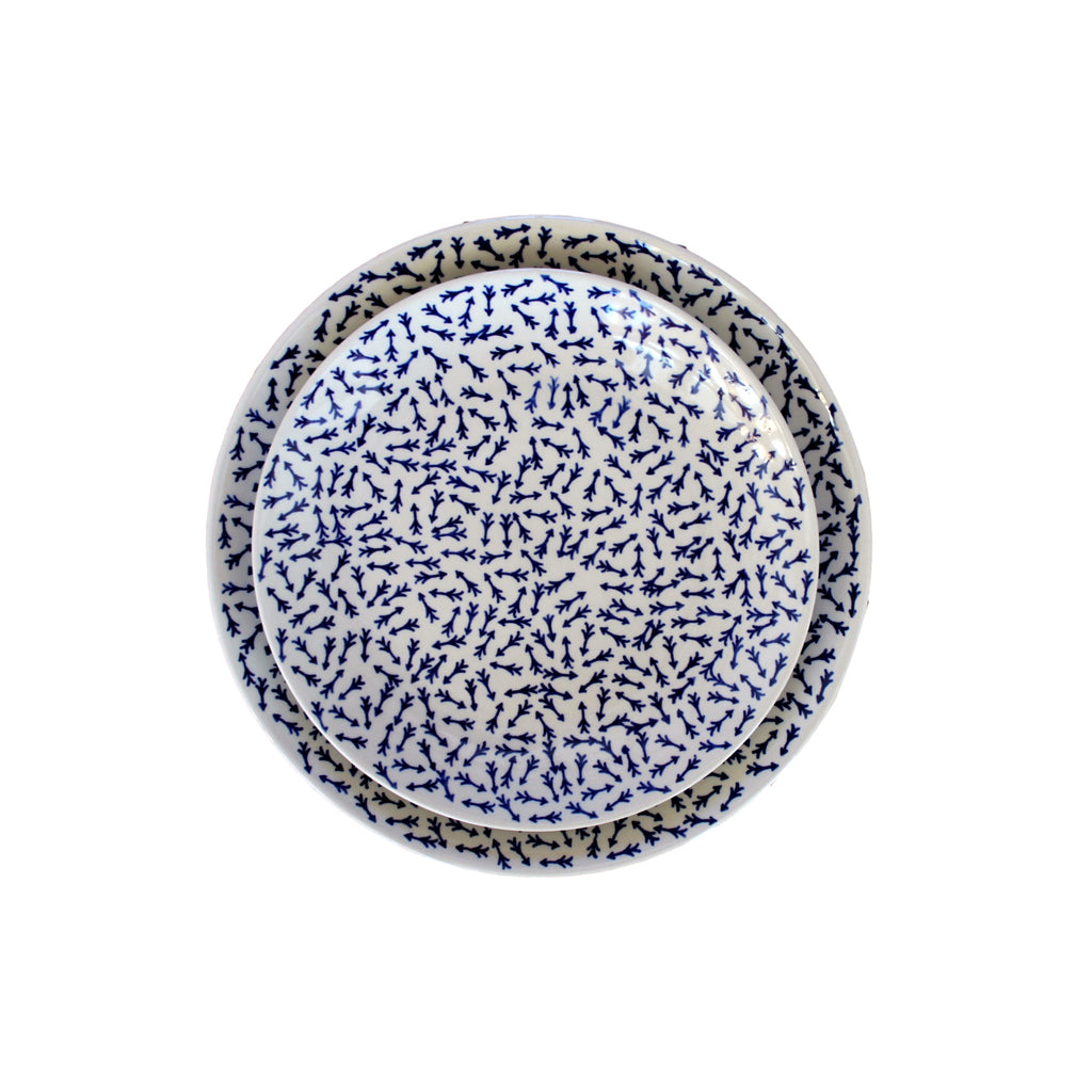 Blue Arrows - Salad Plate  Polish Ceramics - PasParTou