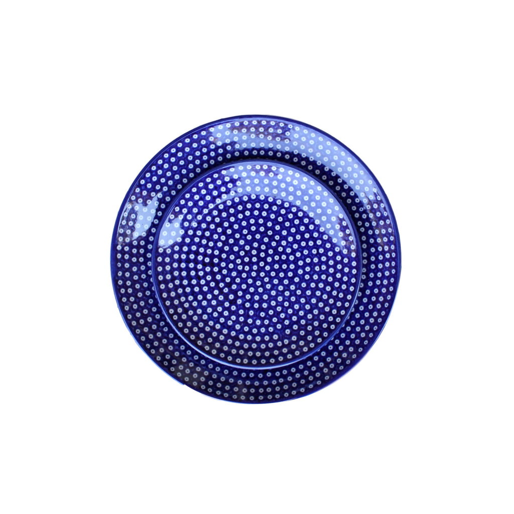 Dotty for Dots Navy - Dessert Plate  Polish Ceramics - PasParTou