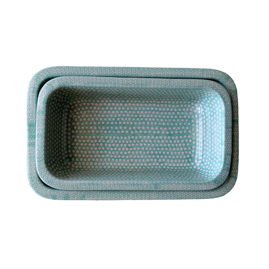 Dotty for Dots Mint - Rectangular Baker Small  Polish Ceramics - PasParTou