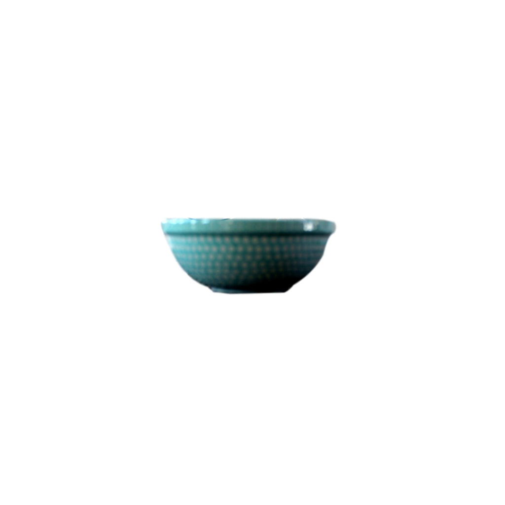 Dotty for Dots Mint - Dessert Bowl  Polish Ceramics - PasParTou