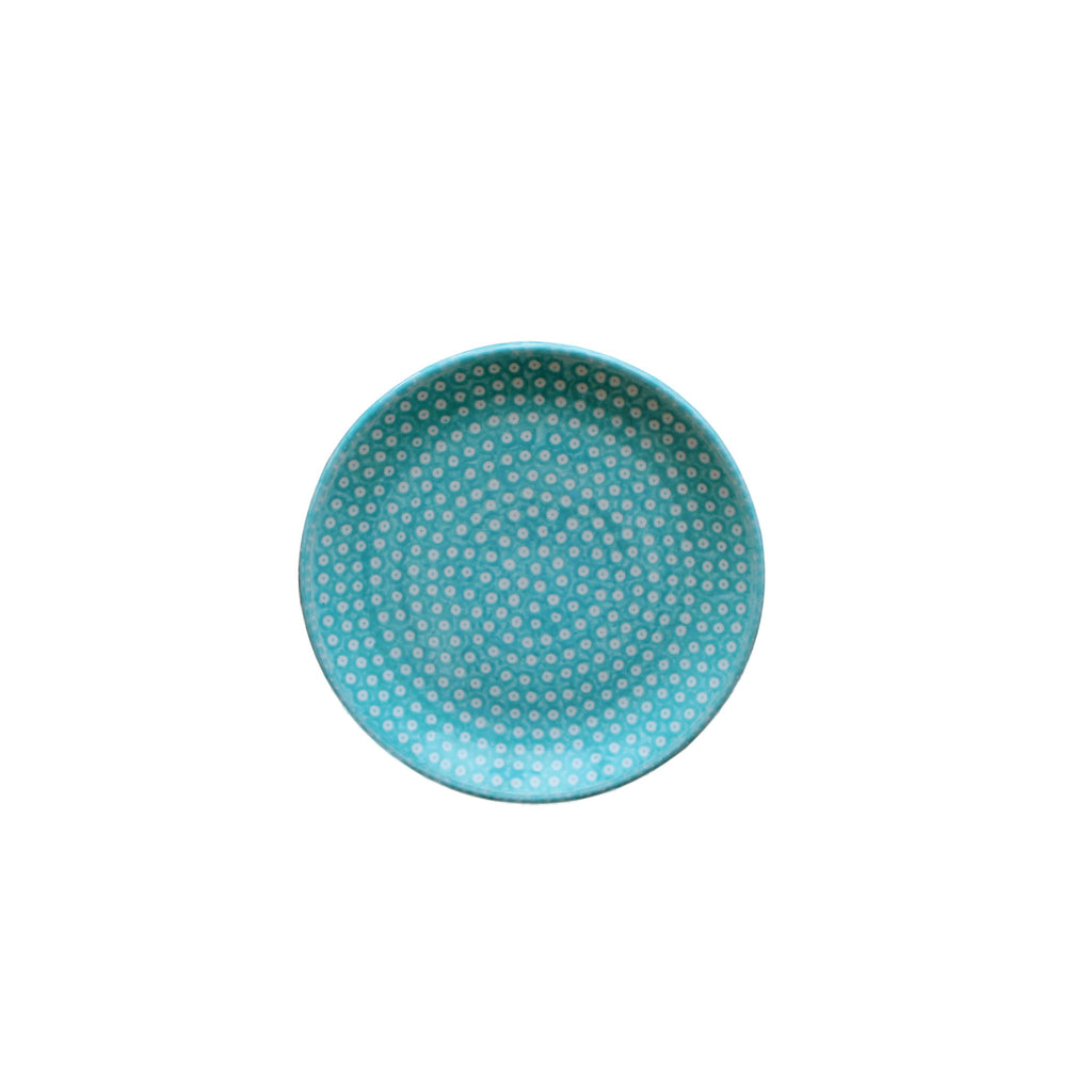 Dotty for Dots Mint - Dessert Plate  Polish Ceramics - PasParTou
