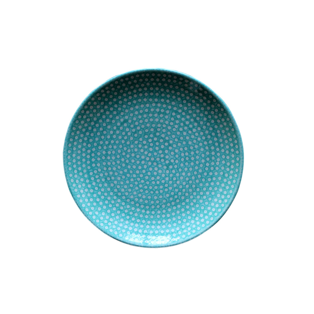 Dotty for Dots Mint - Dinner Plate  Polish Ceramics - PasParTou