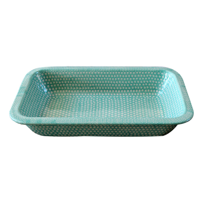 Dotty for Dots Mint - Rectangular Baker Large  Polish Ceramics - PasParTou