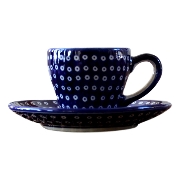 Dotty for Dots Navy - Espresso Cup - Set of 2  Polish Ceramics - PasParTou