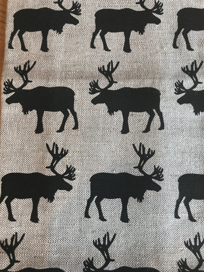 Teatowel Natural Linen/Cotton with Elk