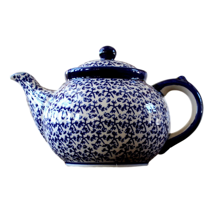 Blue Fern - Large Teapot  Polish Ceramics - PasParTou
