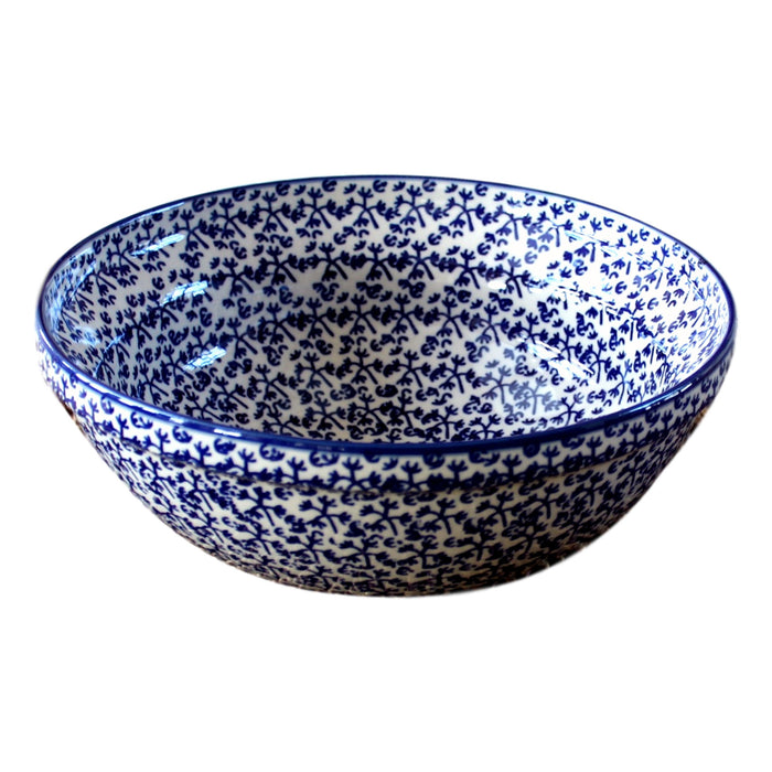 Blue Fern - Medium Serving Bowl  Polish Ceramics - PasParTou
