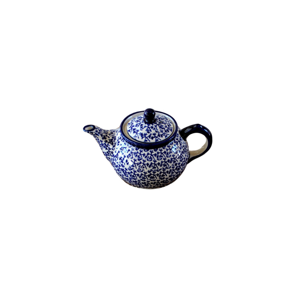 Blue Fern - Small Teapot  Polish Ceramics - PasParTou