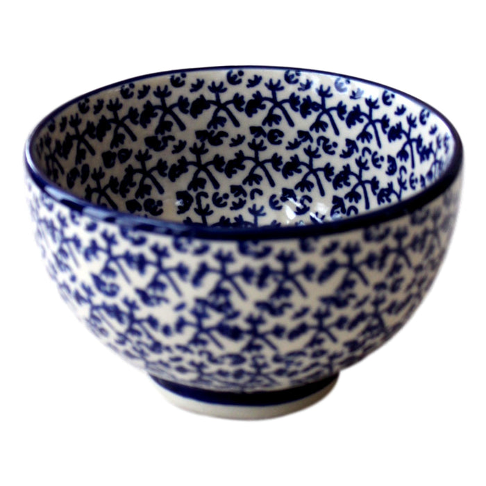 Blue Fern- Bowl for starters  Polish Ceramics - PasParTou