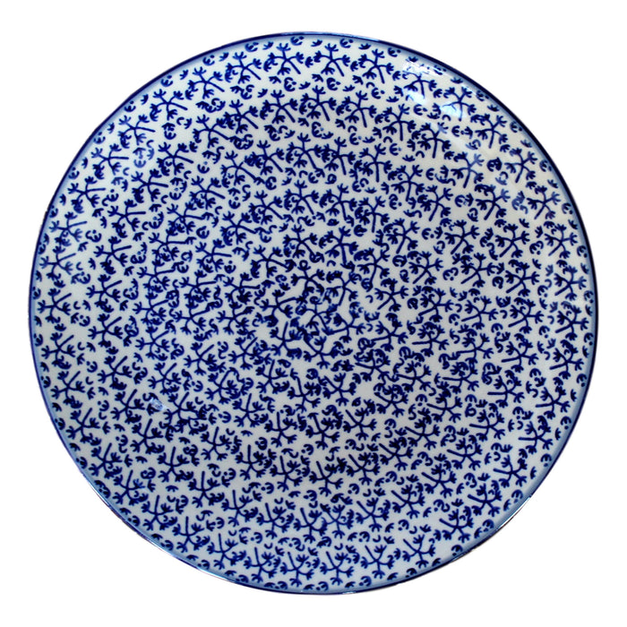 Blue Fern - Dinner Plate  Polish Ceramics - PasParTou