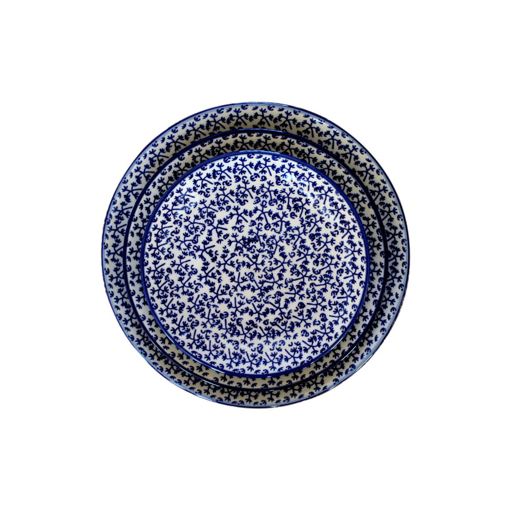 Blue Fern -set of Dinner Salad and Dessrt Plates - Pas-Par-Tou