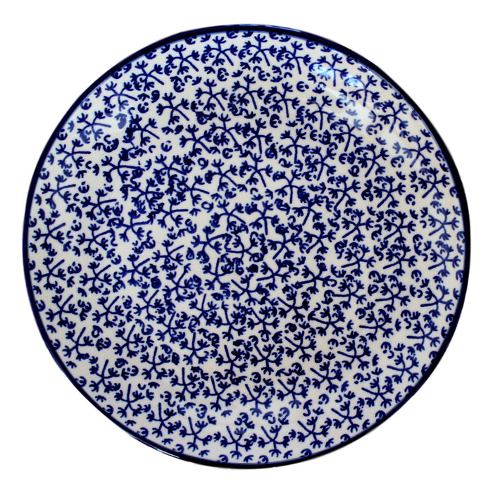 Blue Fern - Salad Plate  Polish Ceramics - PasParTou