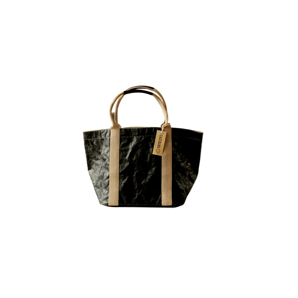 tote made from cotton, paper, leather, durable, pas-par-tou