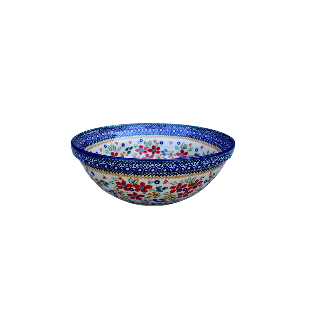 Harvest Floral - Medium Serving Bowl  Polish Ceramics - PasParTou