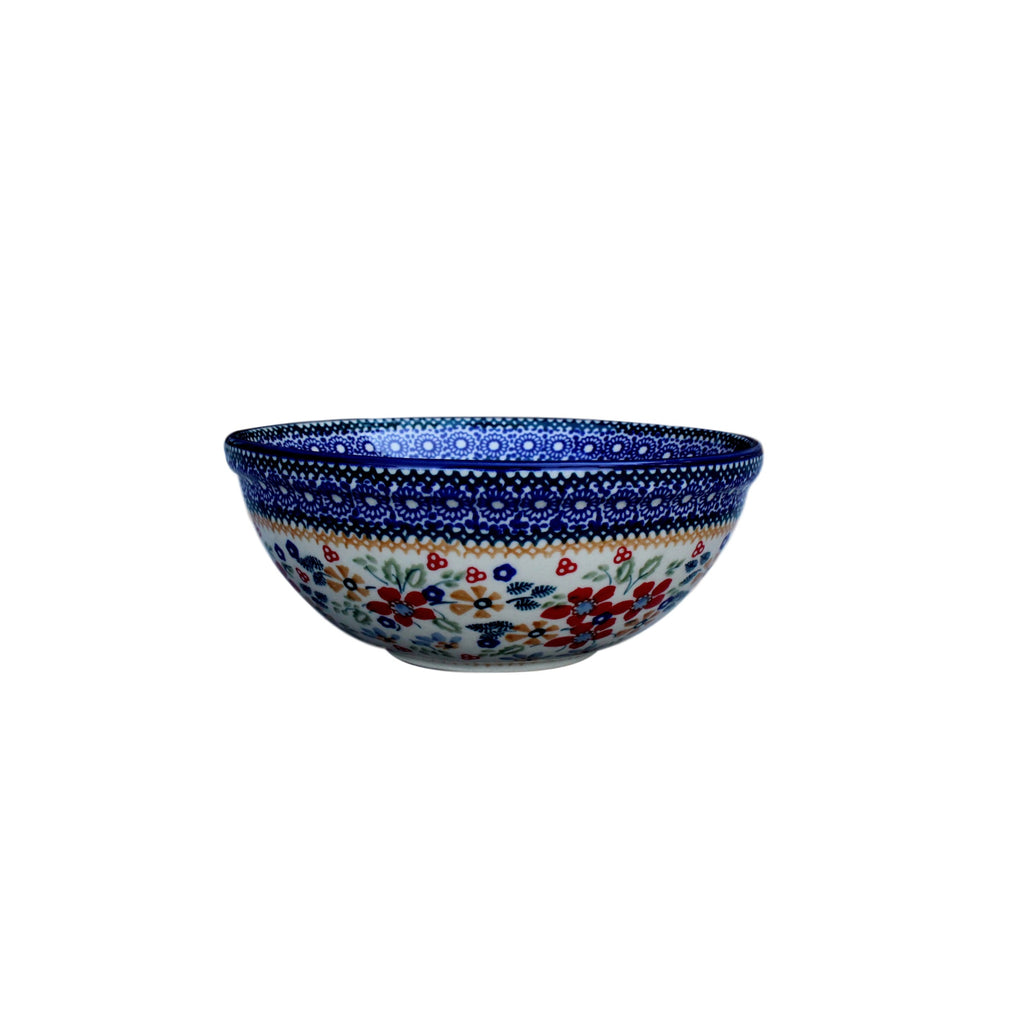 Harvest Floral - Small Serving Bowl  Polish Ceramics - PasParTou