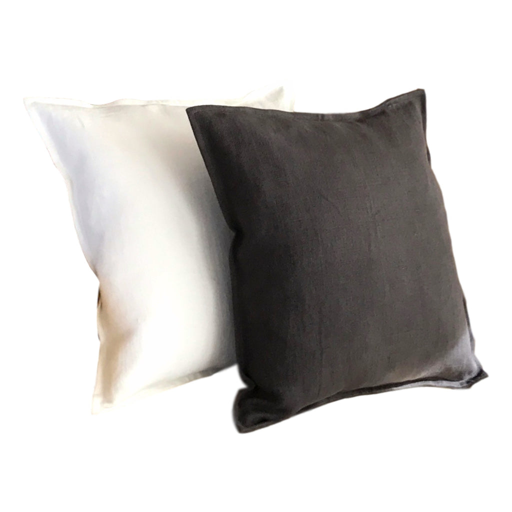 Pillow Soft Washed Linen Chocolate Brown 20 x 20  Pillows - PasParTou