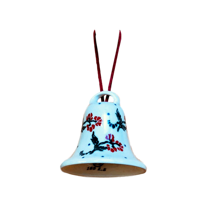 Ornament -  Polish Pottery - Bell with Red Berries