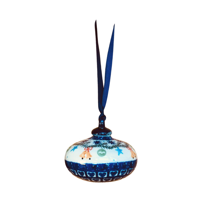 Ornament - Polish Pottery - Bells and Stars