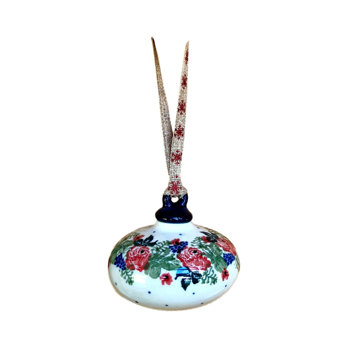 Ornament - Polish Pottery - Red Roses