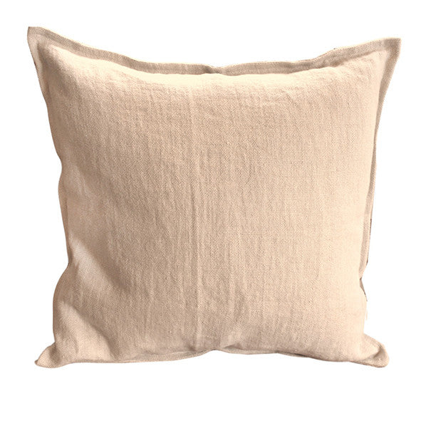 Pillow Soft Washed Linen Almond 20 x 20  Pillows - PasParTou