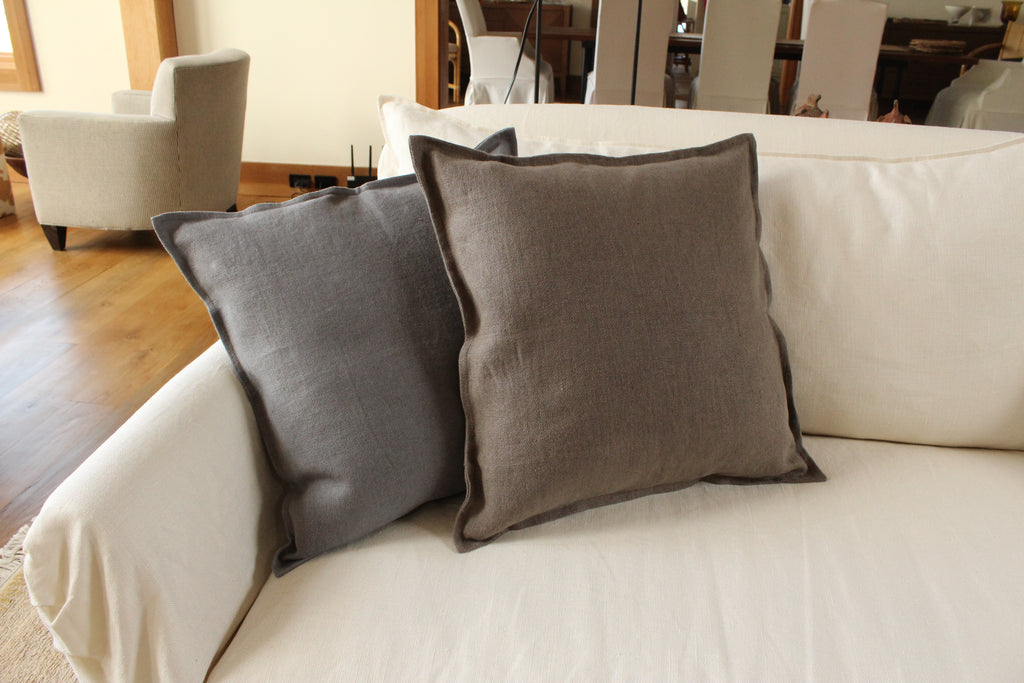 Pillow Soft Washed Linen Light Brown 20 x 20