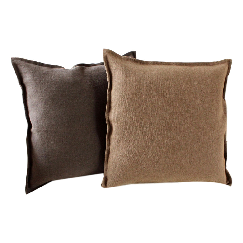 Pillow Soft Washed Linen Light Brown