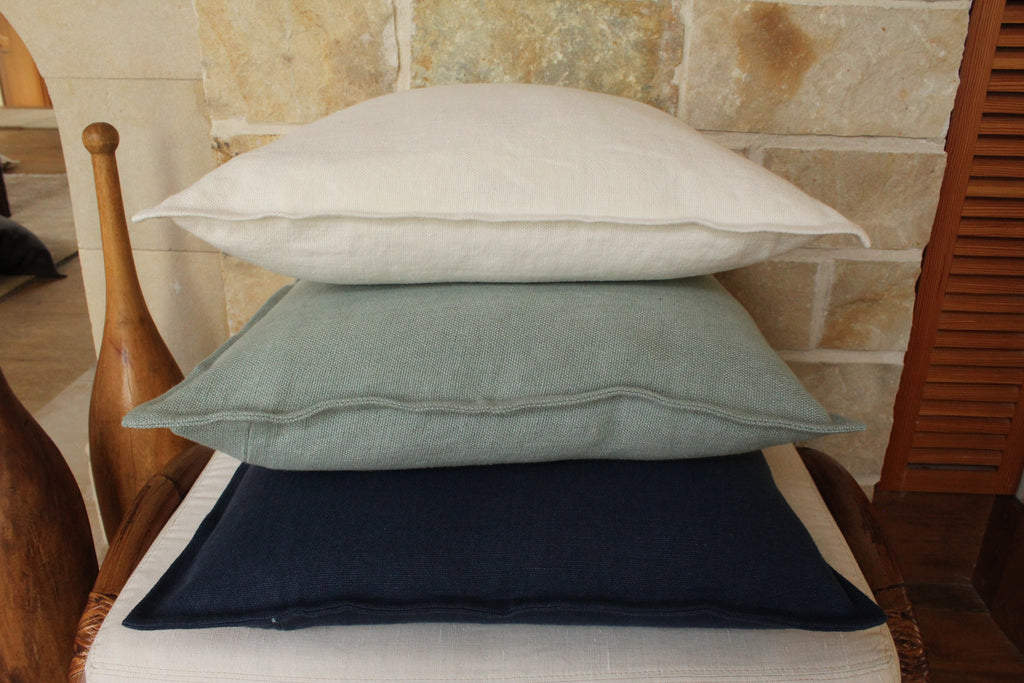 Pillow Soft Washed Linen Teal 20 x 20  Pillows - PasParTou
