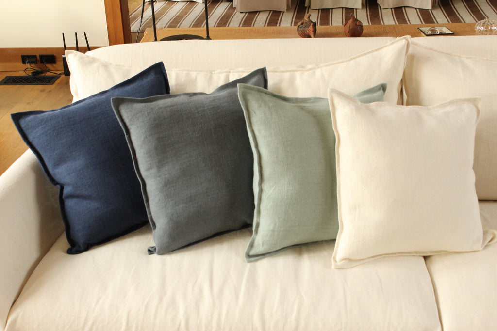 Pillow Soft Washed Navy 20 x 20  Pillows - PasParTou