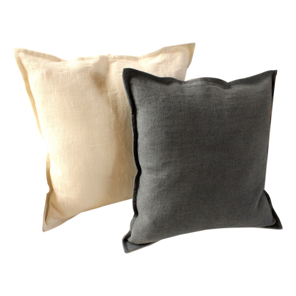 Pillow Soft Washed Linen Almond 20 x 20