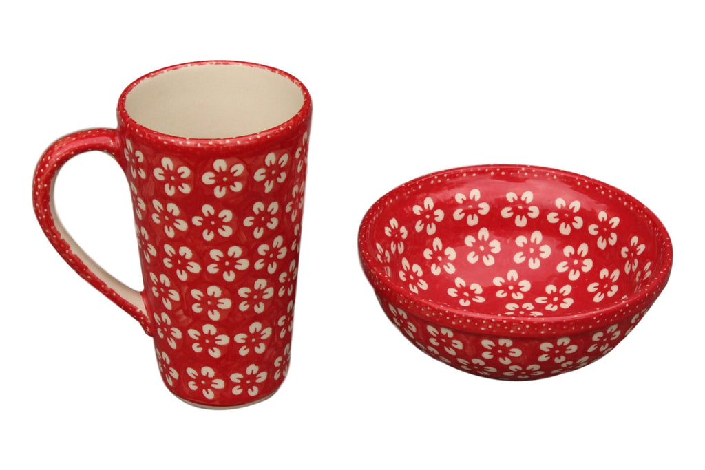 Red Flowers - Dessert Bowl - PasParTou