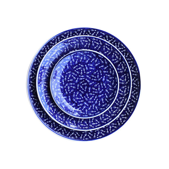 Blue Arrows Serving Plate, Dinner Plate and Dessert Plate
