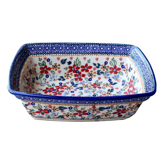 Harvest Floral - Deep Rectangular Baker  Polish Ceramics - PasParTou
