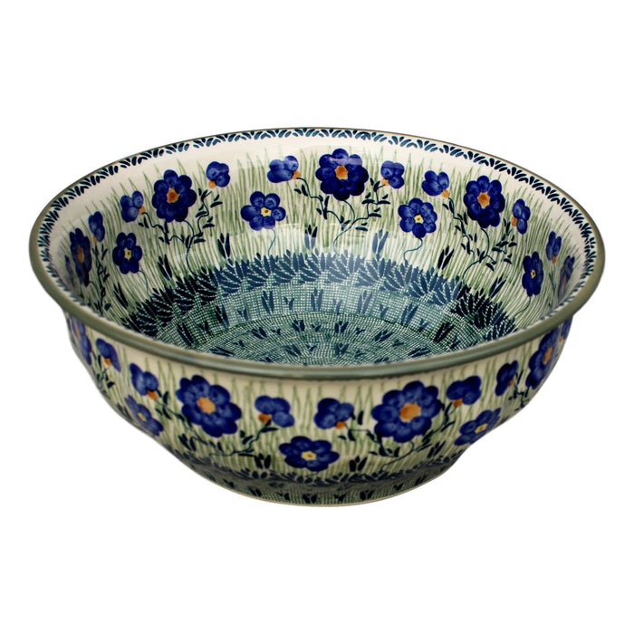 Meadow - Large Fluted Serving Bowl  Polish Ceramics - PasParTou