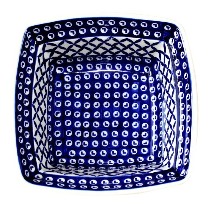 Lattice - Deep Square Baker  Polish Ceramics - PasParTou
