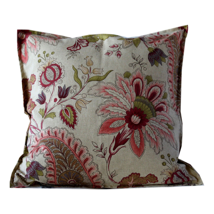 Pillow Natural Floral Cotton 20 x 20  Pillows - PasParTou